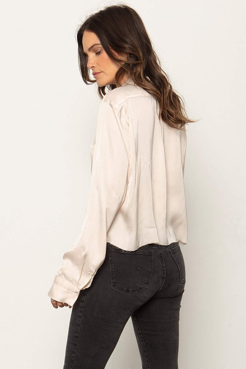 The Crop Favorite Shirt- Champagne