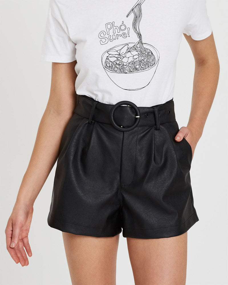 Sara Faux Leather Short