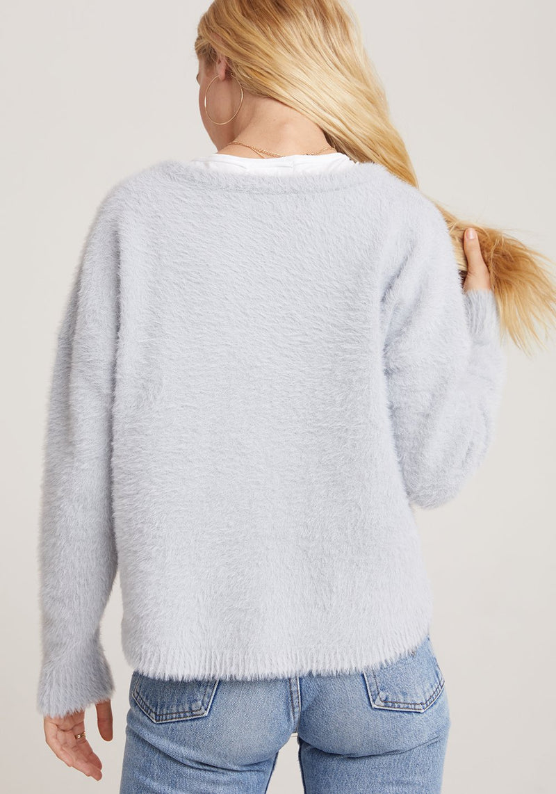 Silver Slouchy Sweater
