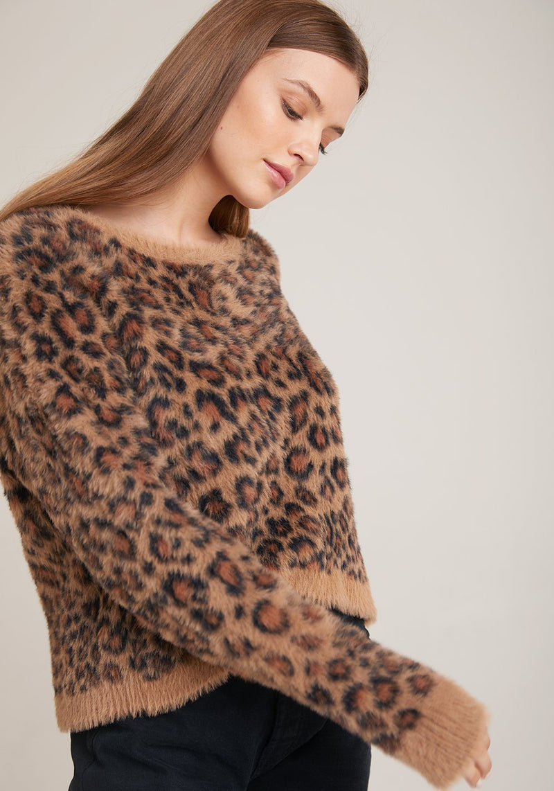 Golden leopard Slouchy Sweater