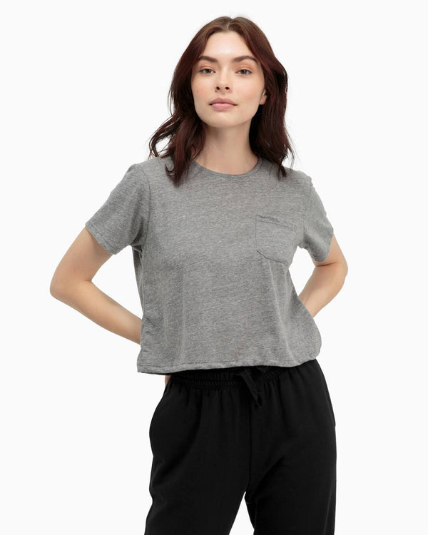 Boxy Crop Tee - Heather