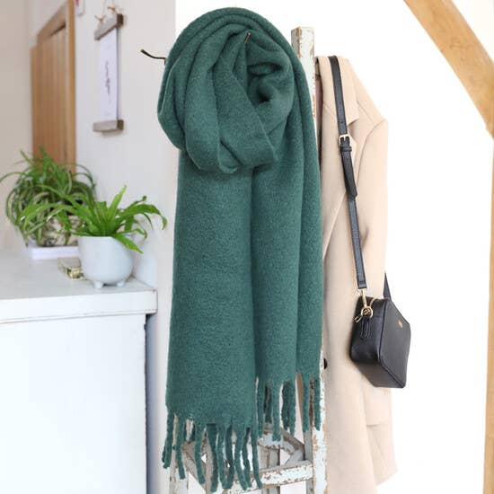 Green Recycled Oversized Scarf