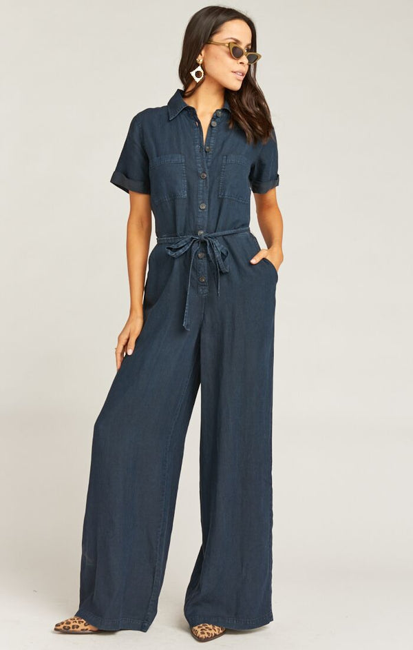 Rylie Jumpsuit - Midnight Chambray