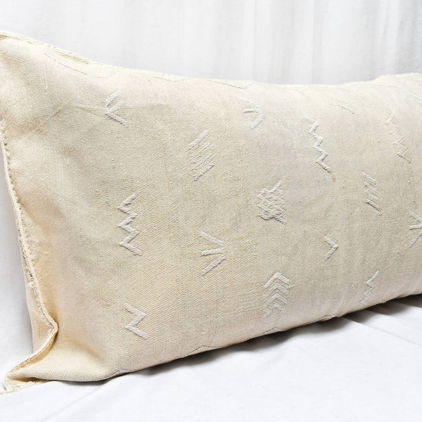 Merzouga Cactus Silk King Size Pillow I oatmeal