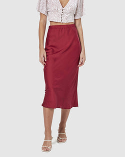 Bella Slip Midi Skirt