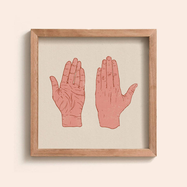 In Our Hands Print 12x12