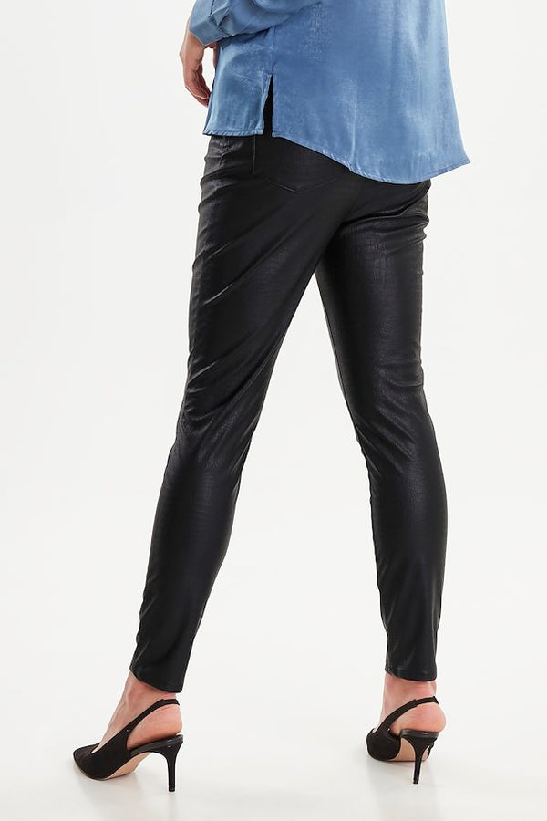 Vegan Leather Croc Pants