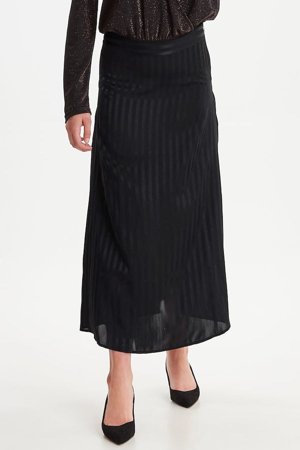 The Slight Stripe Midi Skirt