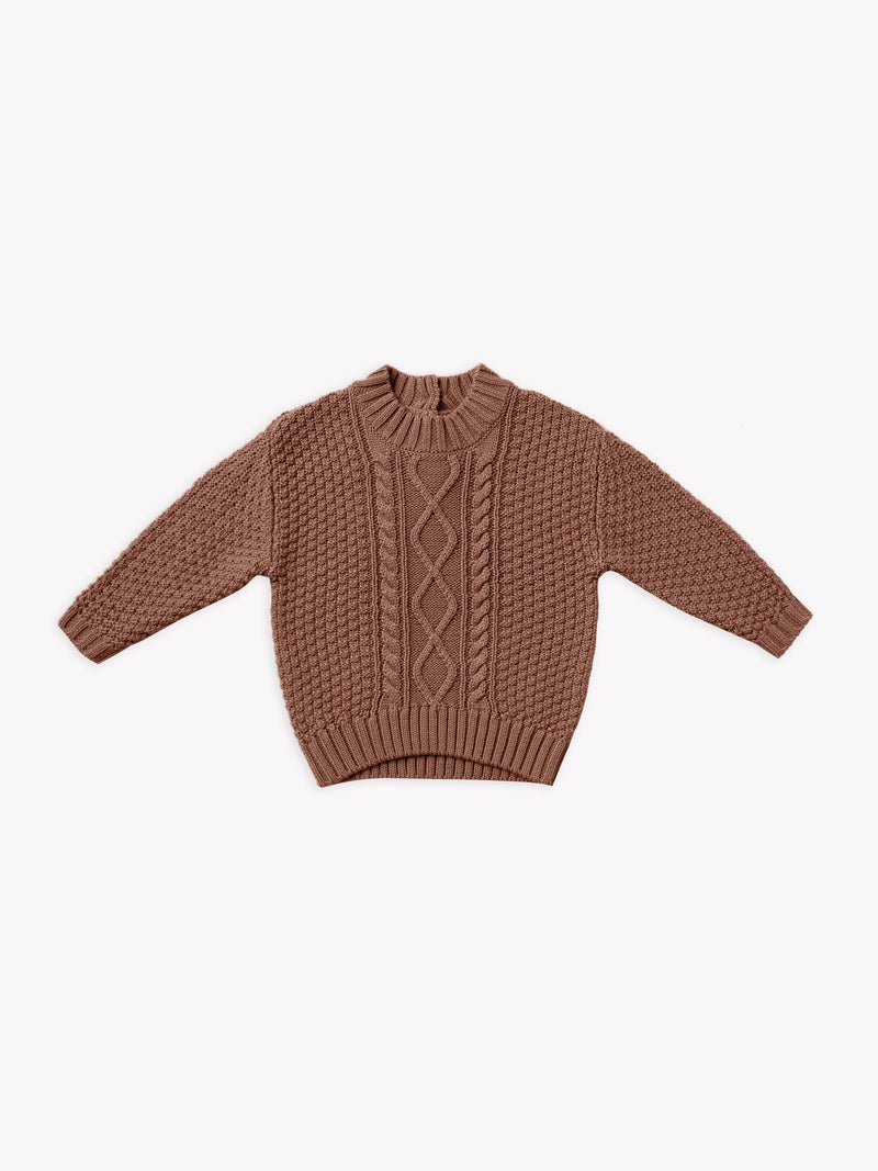 Cable Knit Sweater I clay