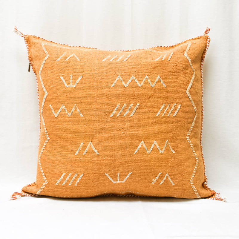 Merzouga Cactus Silk Pillow I terracotta