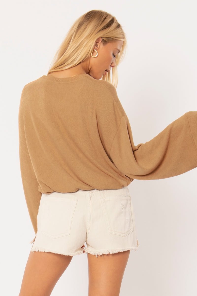 Cosi L/S Knit Fleece Top