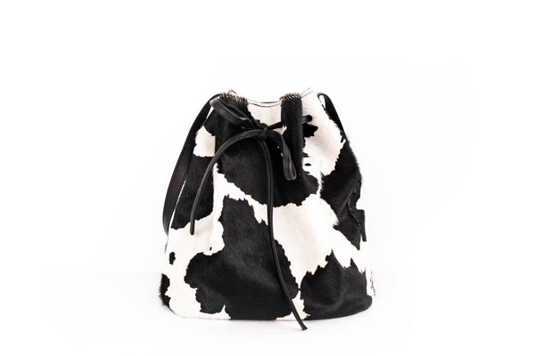 Cow Print Bucket Bag