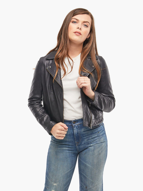 Maha Leather Jacket I Black