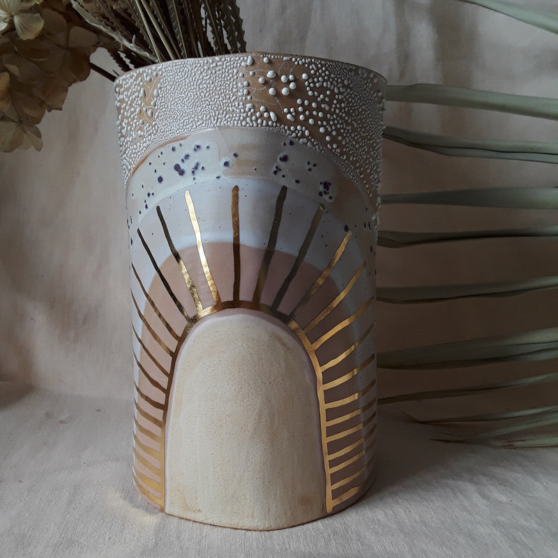 Golden Burst Vase