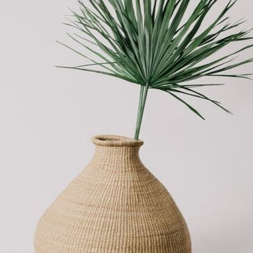 Large Natural Grass Bud Vase
