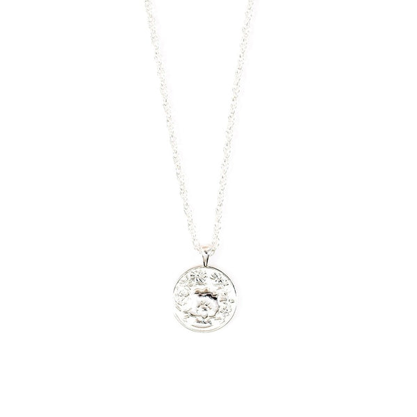 Anywhere Medallion Necklace I Sterling Silver
