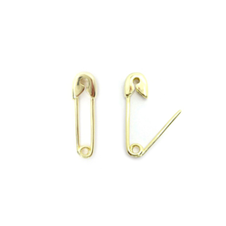 Gold Filled Small Safety Pin Earrings