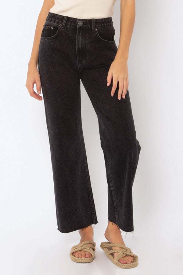 Gabi Crop Denim Pant l Washed Black