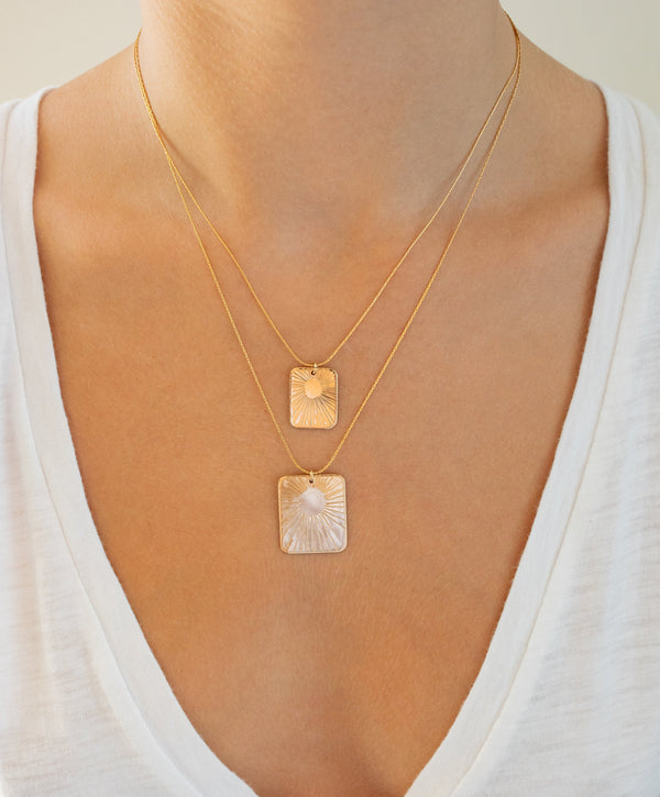 Glow Rectangle Necklace
