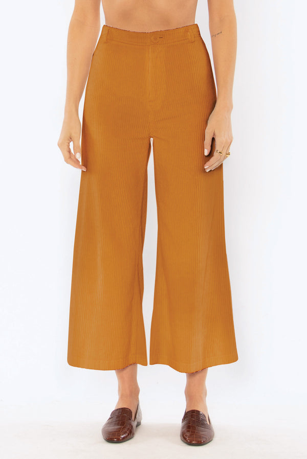 Good Company Corduroy Wide Leg Pant l Amber Light