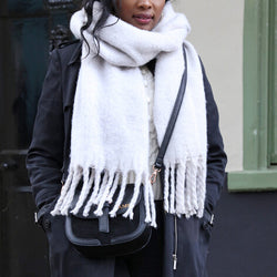 Grey Recycled Oversized Scarf