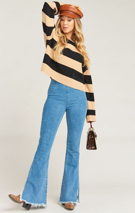 Stripe Camp Top