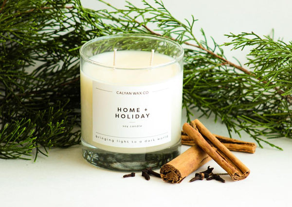 Home + Holiday Glass Tumbler Candle