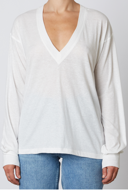 Abby Deep V Long Sleeve