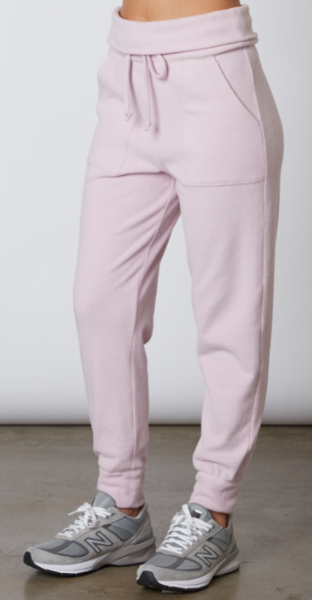 Fold Over Hacci Jogger Lilac