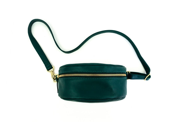 Leather Bum Bag Kelp