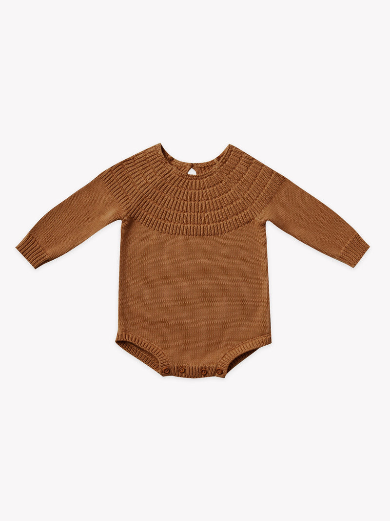 Knit Dalia Romper I walnut