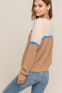 Color Block Knit Sweater