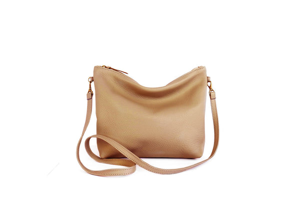 Leather Mini Hobo Tan
