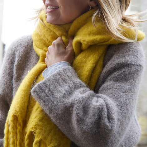 Mustard Recycled Oversized Scarf