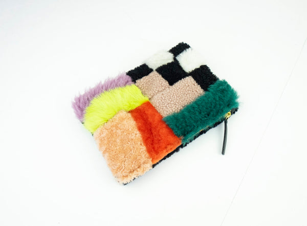 Patchwork Zipper Pouch Playground