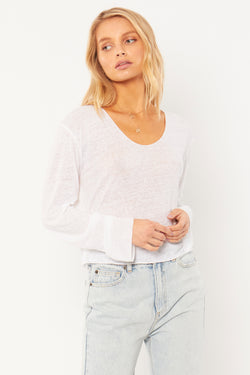 Pierce Long Sleeve Top I White