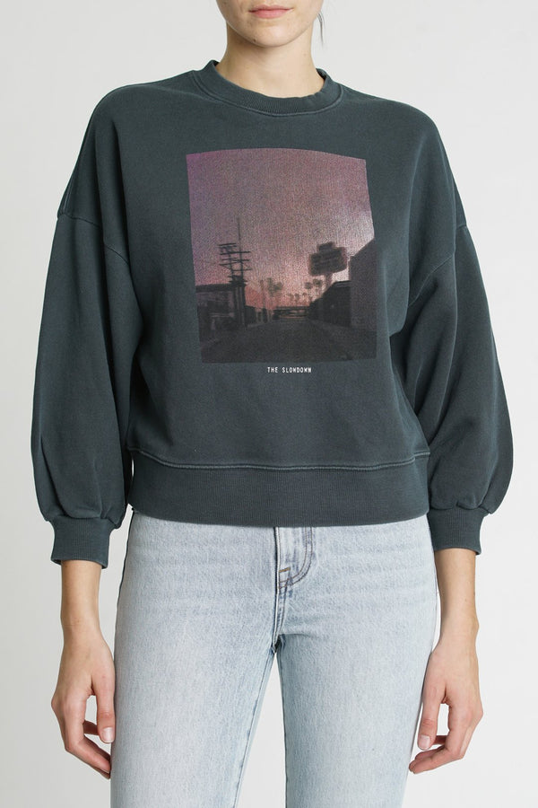 Slowdown Balloon Sleeve Sweatshirt
