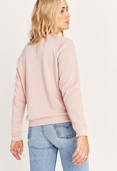Go with the flow embroidered sweatshirt