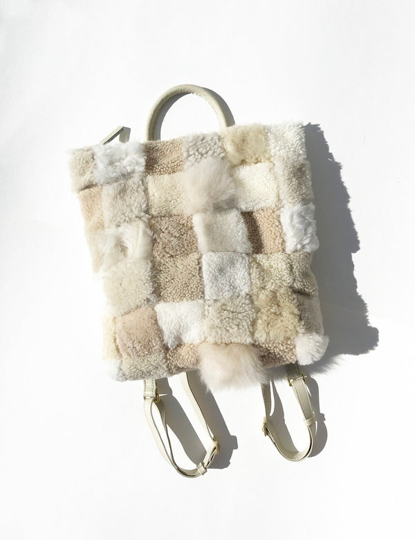 Tofu Scraps Sherling Backpack