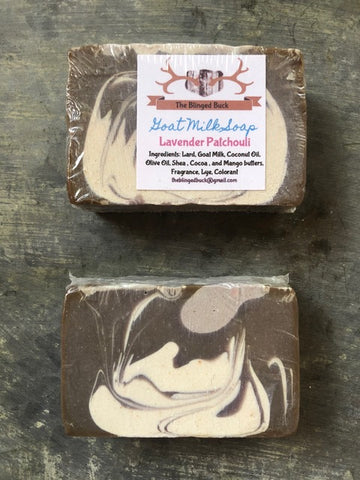 A wonderful blend of Lavender and Patchouli soap.