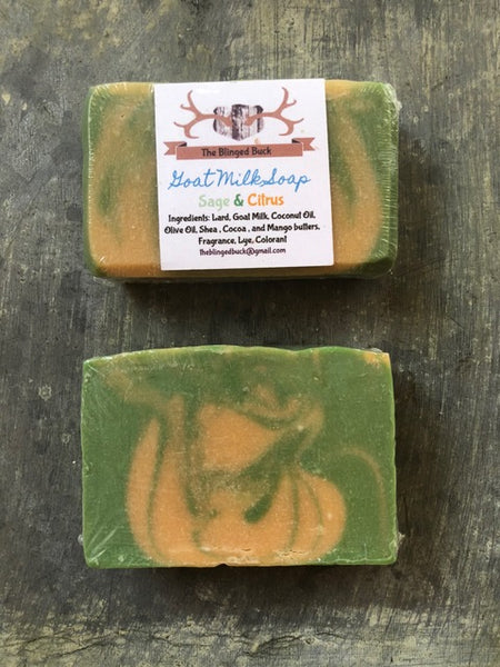 Sage and Citrus Goat milk Soap