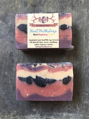 Black Raspberry Vanilla Goat Milk Soap
