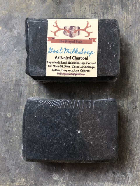 Natural Activated Charcoal Goat Milk Soap