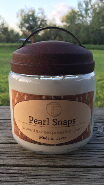 Pearl Snaps Rustic Candle