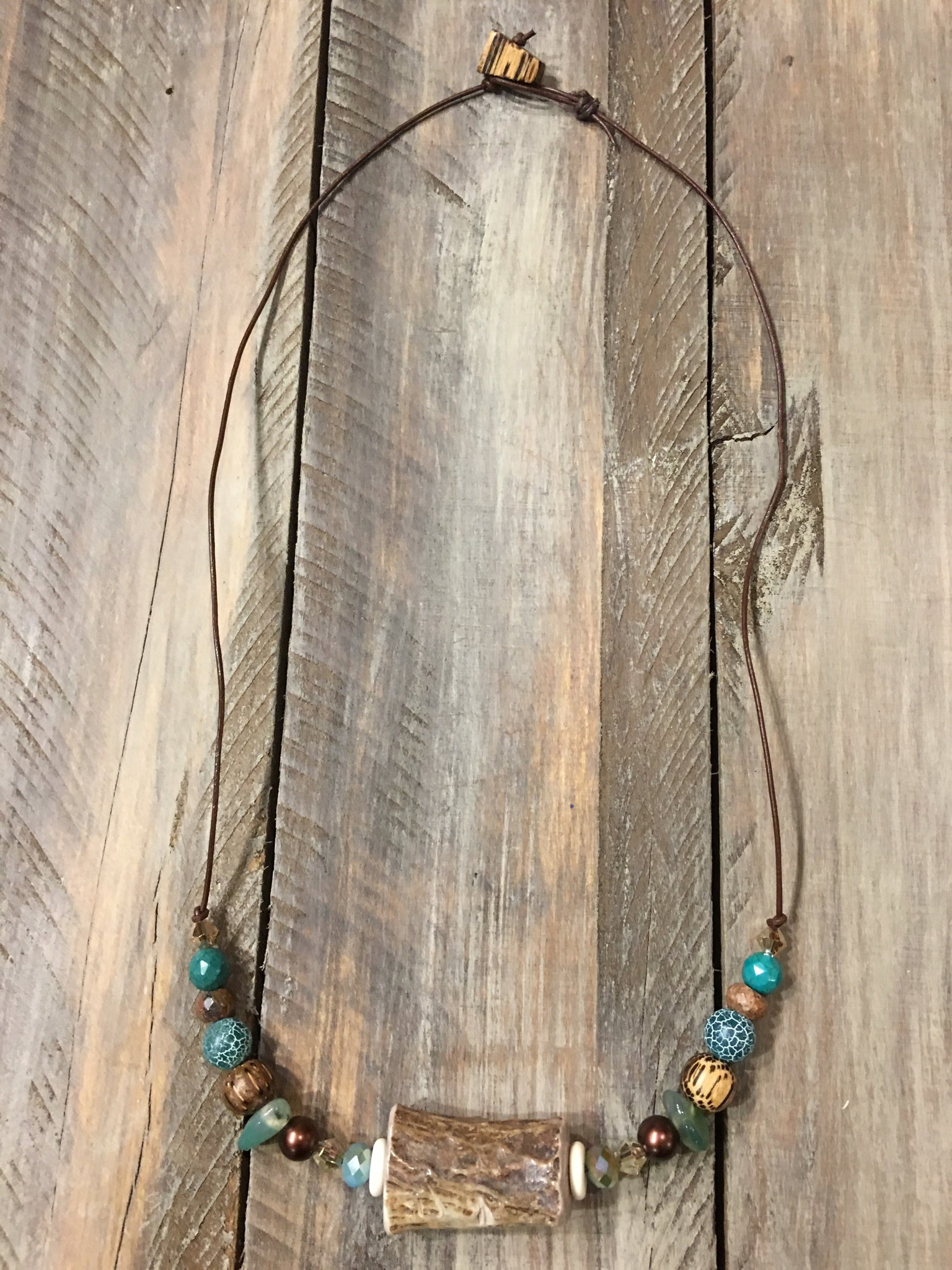 Simple Log Antler Necklace