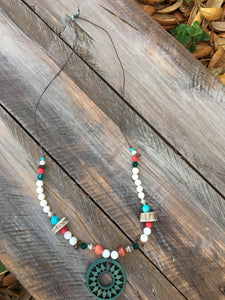 Wooden and Antler Boho Necklace