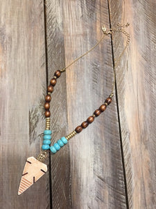 Arrowhead Beaded Necklace