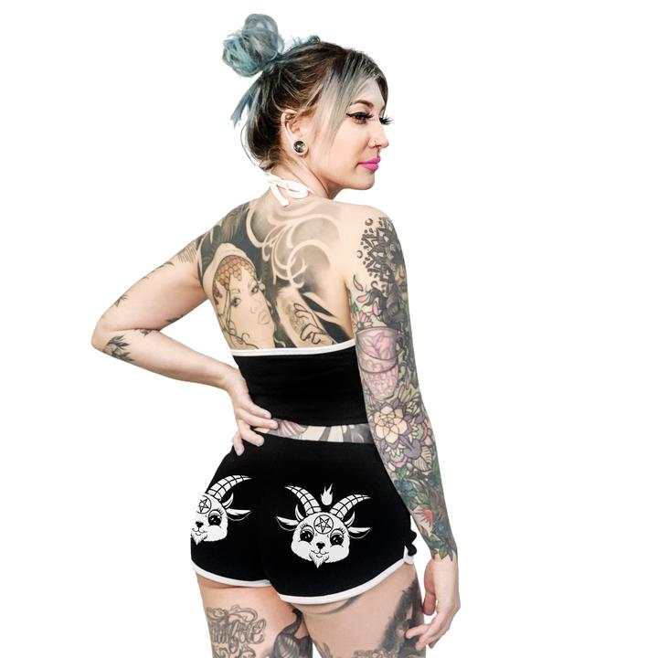 Baby Baphomet Goat Retro 70s Booty Shorts
