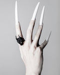Lilith Skull Ring in Black