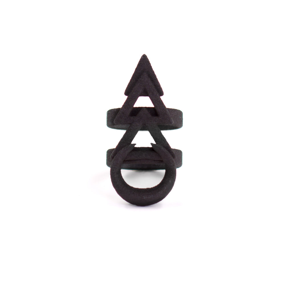 Rune Ring in Black